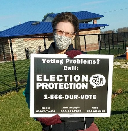 Election Protection sign at voting location