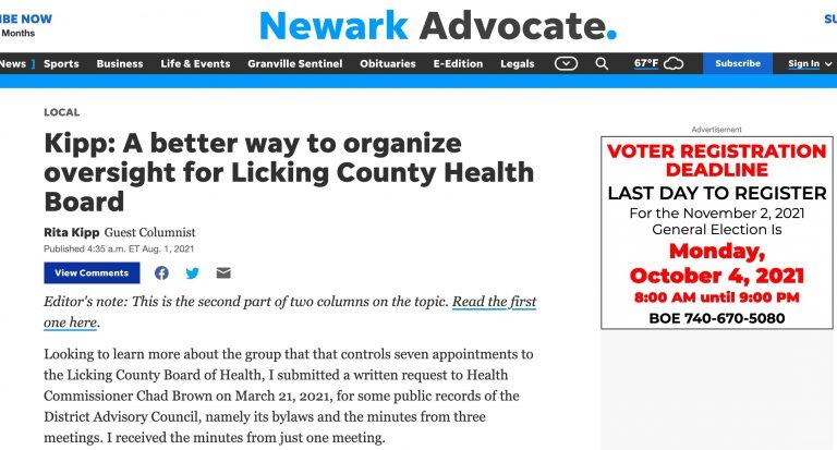 LWV-Licking County Newark Advocate Op ED